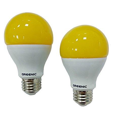 Yellow Outdoor Led Light Bulbs: 60Watt Yellow LED Bug Light Bulb 2-Pack No Blue Light